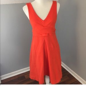 Anthropologie Orange Dress
